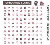 hospital  clinic  medicine ... | Shutterstock .eps vector #366883259