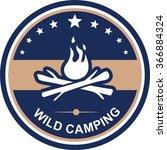 Flat Image Of Circle Camping...