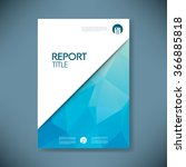 business report cover with low... | Shutterstock .eps vector #366885818