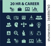hr  career  job  icons  signs... | Shutterstock .eps vector #366886760