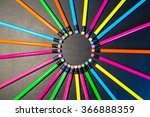 colour pencils isolated on... | Shutterstock . vector #366888359
