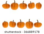 Pumpkin Border With Two Rows O...