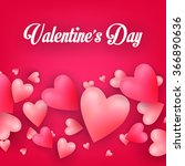 valentine greeting card.... | Shutterstock .eps vector #366890636