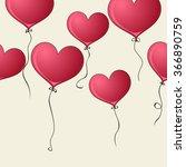 balloon heart | Shutterstock .eps vector #366890759