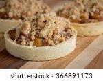 trio of apple tarts displayed... | Shutterstock . vector #366891173