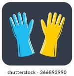 rubber gloves icon. | Shutterstock .eps vector #366893990