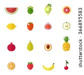fruit icons vector set. modern... | Shutterstock .eps vector #366895583