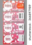 set of modern gift voucher... | Shutterstock .eps vector #366897989