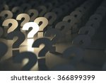 question marks. idea or problem ... | Shutterstock . vector #366899399