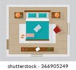 bedroom with furniture overhead ...   Shutterstock .eps vector #366905249