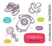 vector line art icon set with... | Shutterstock .eps vector #366908834