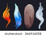 nature elements. fire water ... | Shutterstock .eps vector #366916058