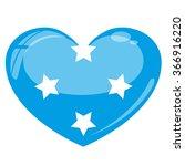 micronesia flag heart vector... | Shutterstock .eps vector #366916220