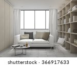 3d rendering cushion living...   Shutterstock . vector #366917633