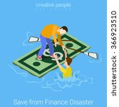 save rescue from finance dept...   Shutterstock .eps vector #366923510