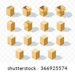 box templates  set of 15... | Shutterstock .eps vector #366925574