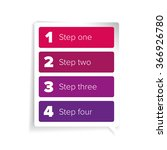 one two three four steps... | Shutterstock .eps vector #366926780