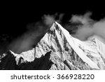 mountain peak in monotone ... | Shutterstock . vector #366928220