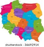vector color map of...   Shutterstock .eps vector #36692914