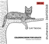 coloring book for adults  ... | Shutterstock .eps vector #366930368