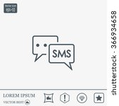 sms sign icon   Shutterstock .eps vector #366934658