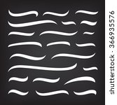 underlines lettering lines set... | Shutterstock .eps vector #366935576
