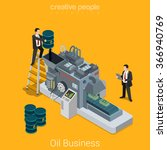oil business process flat 3d... | Shutterstock .eps vector #366940769