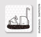 bumper car doodle | Shutterstock . vector #366943196
