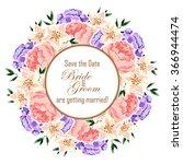 romantic invitation. wedding ... | Shutterstock .eps vector #366944474
