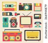 Old Retro Media Communication...