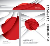 abstract japan flag  japanese... | Shutterstock .eps vector #366949316