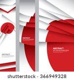 abstract japan flag  japanese... | Shutterstock .eps vector #366949328