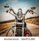 motorcycle on the road | Shutterstock . vector #366951380