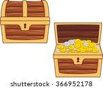 illustrations of treasure chest ... | Shutterstock .eps vector #366952178