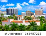 sarasota  florida  usa downtown ... | Shutterstock . vector #366957218