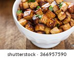 Stir Fried Tofu In A Bowl With...