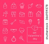 line icons set. valentine s day....   Shutterstock .eps vector #366959378