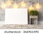 modern bright interior . 3d... | Shutterstock . vector #366961490