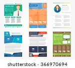 collection  set  of flyer ... | Shutterstock .eps vector #366970694