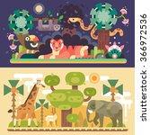 dessert and jungle african... | Shutterstock .eps vector #366972536
