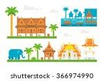 flat design beautiful thai...   Shutterstock .eps vector #366974990