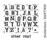 vector alphabet. modern stamps... | Shutterstock .eps vector #366977849