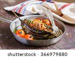 Stuffed Eggplant Or Aubergine...