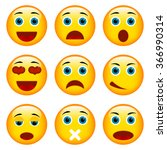 set of emoticons. set of emoji | Shutterstock . vector #366990314