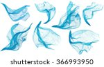fabric cloth flowing flying ... | Shutterstock . vector #366993950