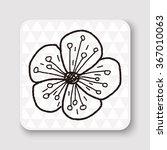 flower doodle | Shutterstock . vector #367010063