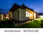 detached luxury house at night  ... | Shutterstock . vector #367012100