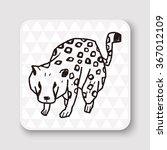 leopard doodle   Shutterstock . vector #367012109