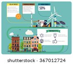 cool low or zero emission green ... | Shutterstock .eps vector #367012724