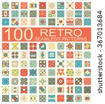 set of 100 retro different... | Shutterstock .eps vector #367013684